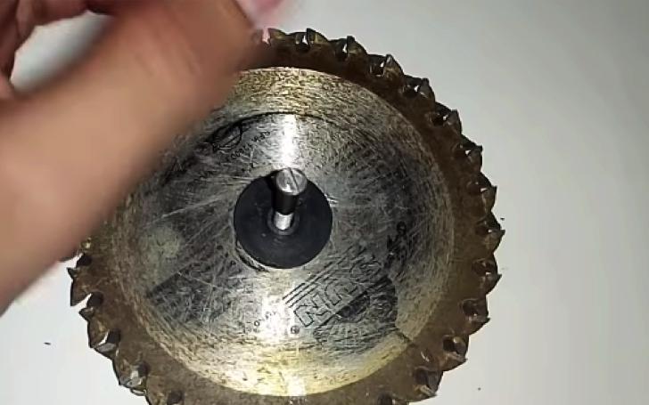 Диск от циркулярки в качестве махового колеса