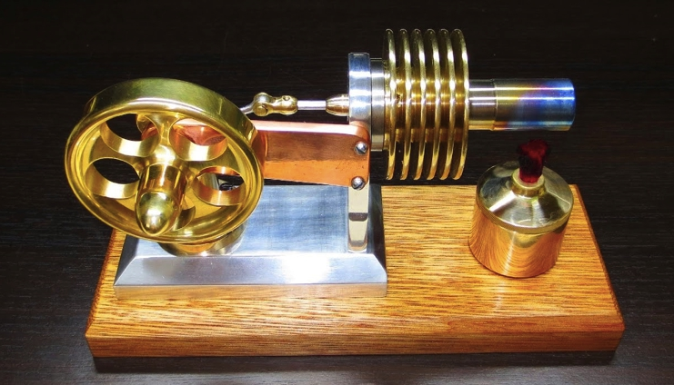 Настольная рабочая модель двигателя Стирлинга