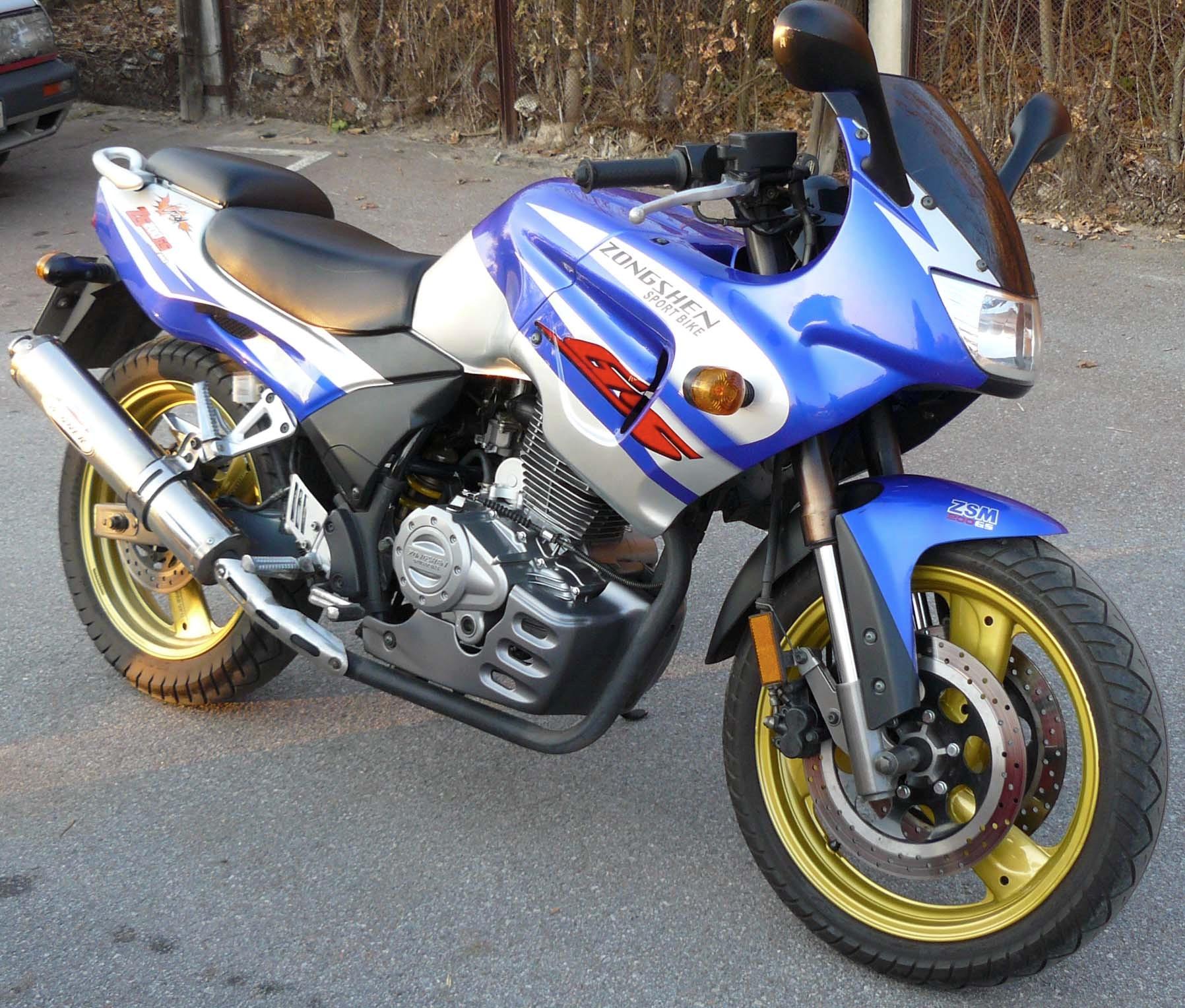 Мотоцикл зонгшен 200